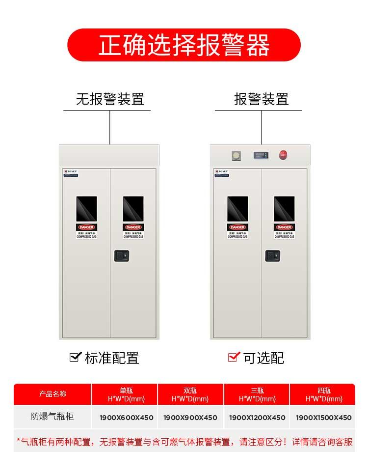 甲烷防爆气瓶柜规格尺寸